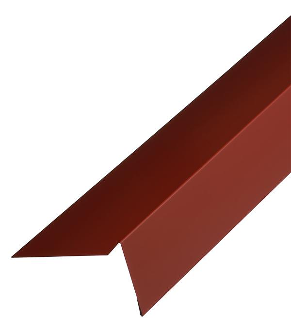 Торцевая планка для гибкой черепицы 100х65 мм 2 м красная RAL 3009 стоимость