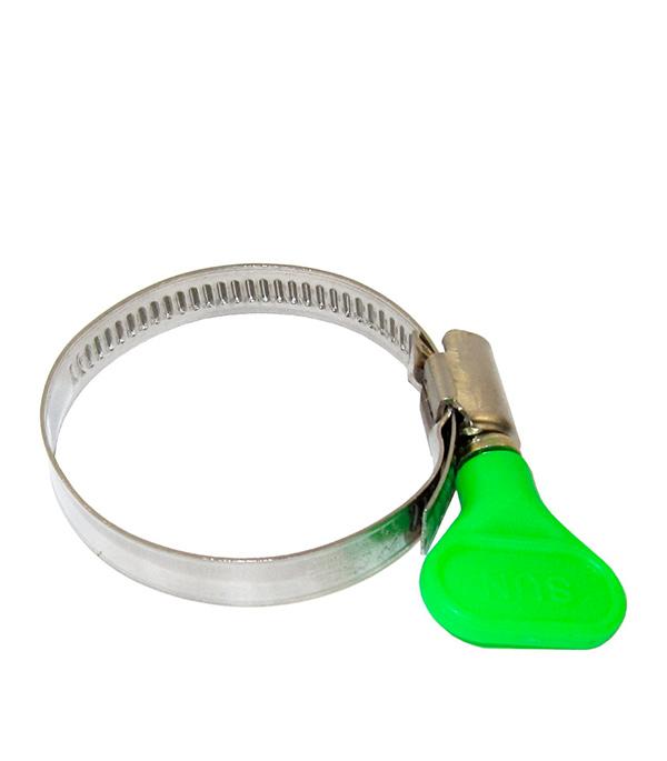 купить Хомут обжимной 20-32 мм нержавеющая сталь с бабочкой онлайн