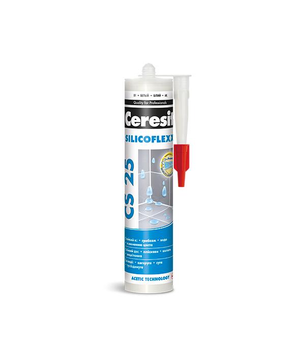 Герметик силиконовый затирка Ceresit CS 25 № 46 карамель 280 мл