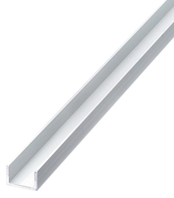 Профиль алюминиевый U-образный 10х15х10х1.5х2000 мм анодированный фото