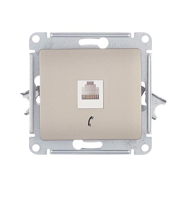 Розетка телефонная Schneider Electric Glossa GSL000481T скрытая установка титан один модуль RJ11