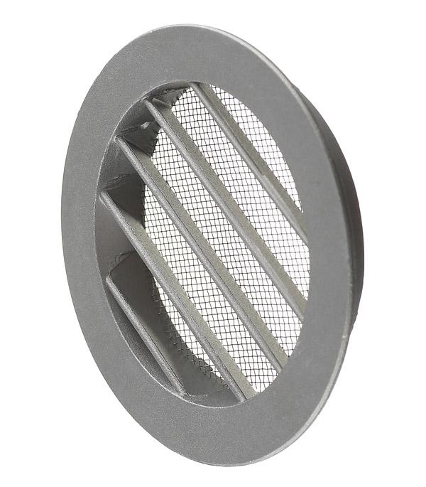 все цены на Вентиляционная решетка наружная круглая алюминиевая d125 мм c фланцем d100 мм онлайн