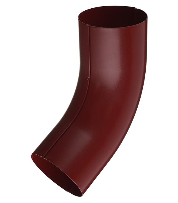 Колено трубы металлическое Grand Line d90 мм 60° красное вино