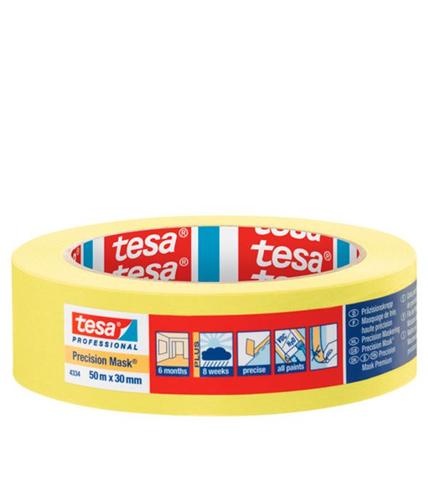Лента малярная Tesa для четкого края желтая 30 мм 50 м