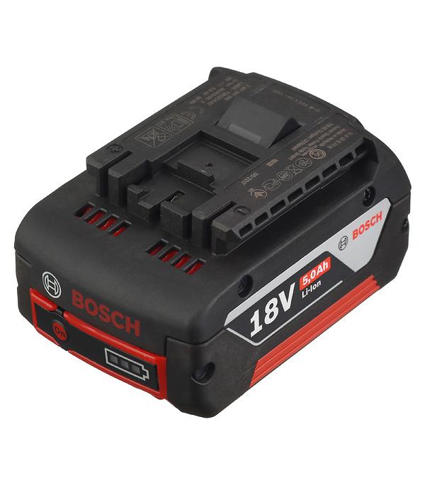 Аккумуляторная батарея Bosch 18 В Li-ion 5.0 Ач аккумуляторная баттарея bosch аккумулятор 18 li 1600z0003u
