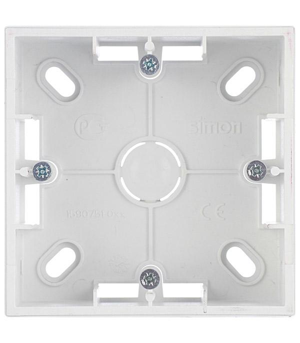 Монтажная коробка для накладного монтажа 1 пост алюминий Simon 15 защитная коробка для соединительных проводов electraline 300176