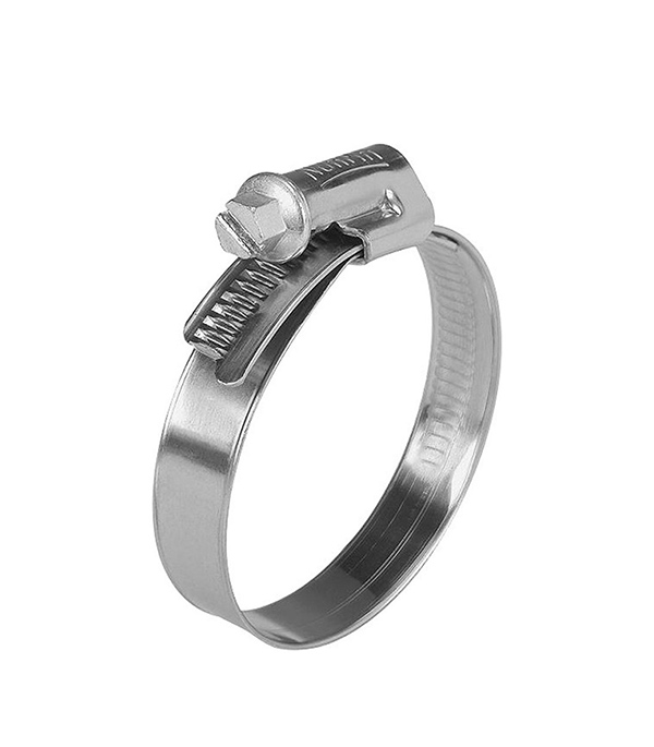 Хомут обжимной 40-60 мм нержавеющая сталь (2 шт.)