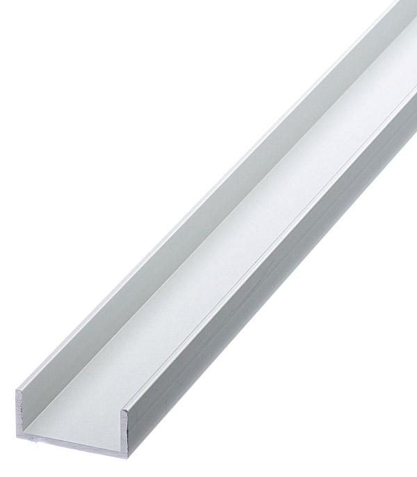 Профиль алюминиевый U-образный 22х10х10х1.5х1000 мм анодированный