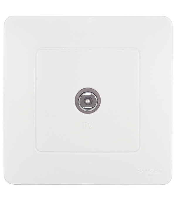 Розетка телевизионная с/у Schneider Electric Blanca белый цена