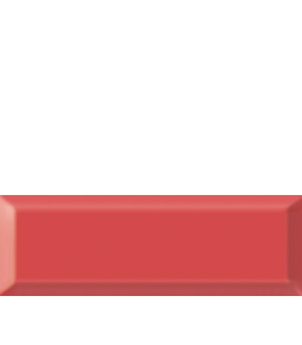 Плитка облицовочная Метро 100х300х8 мм красная (21 шт=0.63 кв.м) плитка декор 100х300х8 мм метро гжель 01 бело синий