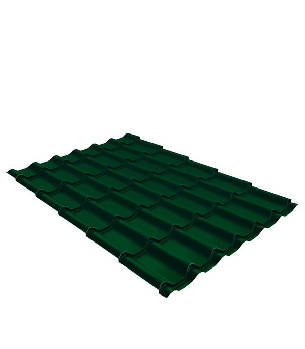 Купить Металлочерепица 1, 18х3, 60 м толщина 0, 5мм Satin зеленая RAL 6005, Зеленый