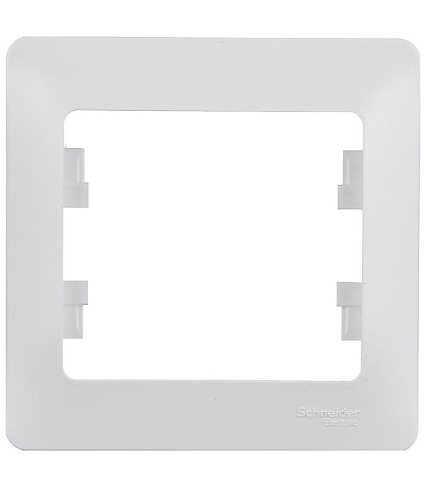Рамка одноместная Schneider Electric Glossa белая рамка schneider electric gsl000201 glossa