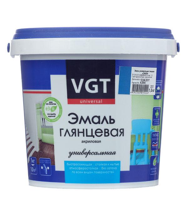 Эмаль акриловая глянцевая синяя VGT 1 кг грунт концентрат vgt водостоп акрил 1 кг