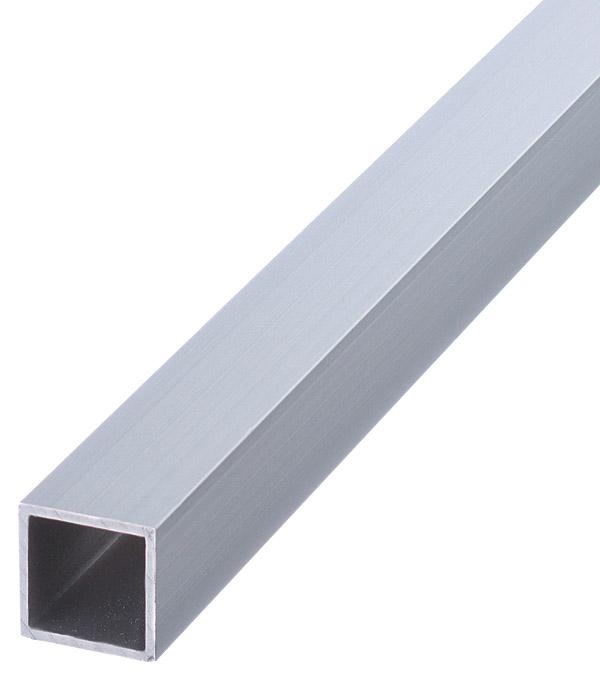 Трубка квадратная алюминиевая 20х20х1,5х1000 мм анодированный