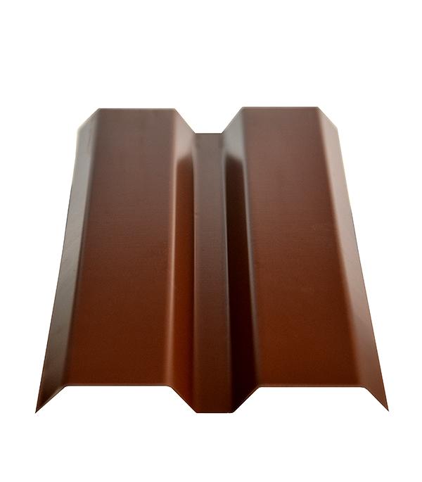 Евроштакетник толщина 0,4 мм 87х1800 мм коричневый