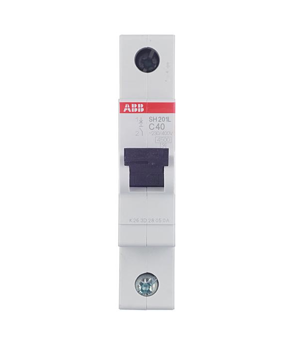 Автомат 1P 40А тип С 4.5 kA ABB SH201L автомат 3p 63а тип с 6 ka abb s203
