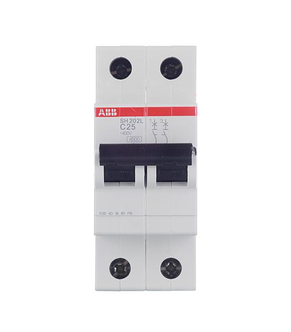 Автомат 2P 25А тип С 4.5 kA ABB SH202L автомат abb s203 c25