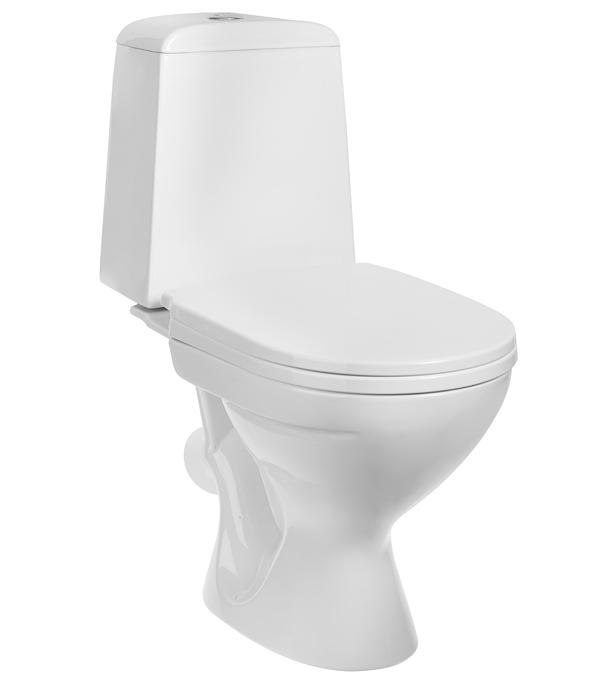 Купить Унитаз-компакт GESSO Home de luxe W102 с косым выпуском c сиденьем пластик, Белый, Санфаянс