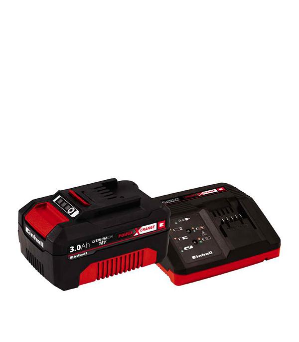 Фото - Стартовый комплект Einhell (зарядка, аккумулятор) 18 В 3.0 Ач Li-ion аккумулятор dexter 2 ач li ion 18 в для аккумуляторного инструмента