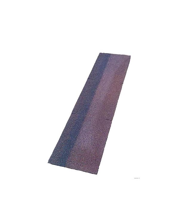 Черепица гибкая коньково-карнизная ШИНГЛАС цвет коричневый/агат/мускат 5 кв.м ендова для битумной черепицы шинглас 1х10 м коричневый агат мускат