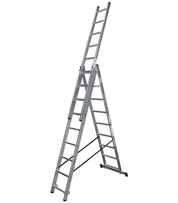Лестница Krause 3-х секционная универсальная 3х9 лестница krause tribilo 121226