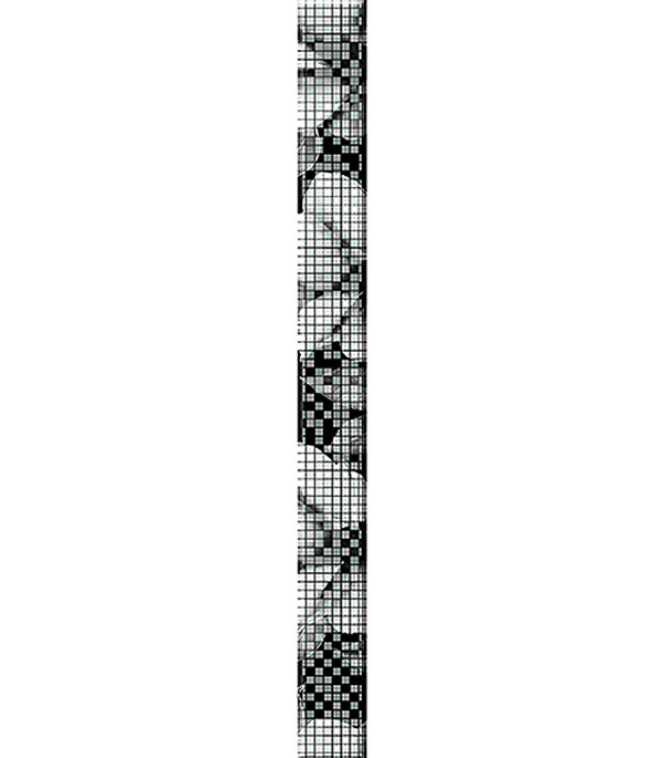 цена на Плитка бордюр Black & White 440х40 мм