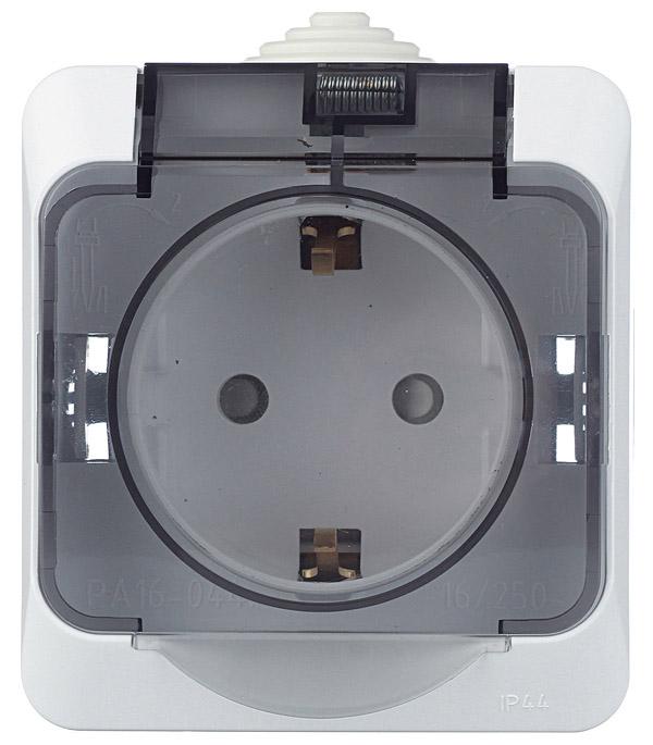 Розетка о/у с заземлением со шторками с защитной крышкой Schneider Electric Этюд белая выключатель одноклавишный о у ip 44 schneiderelectricэтюдбелый