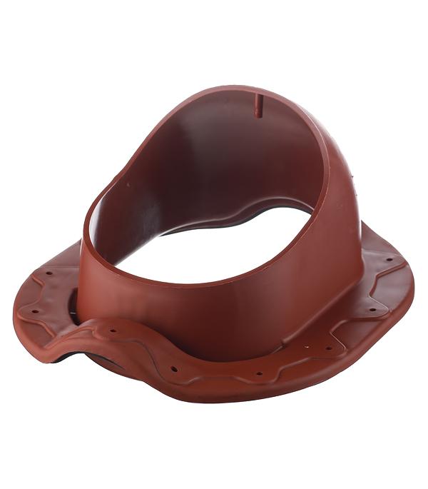 Проходной элемент Поливент для готовой кровли из металлочерепицы Монтеррей красный цена