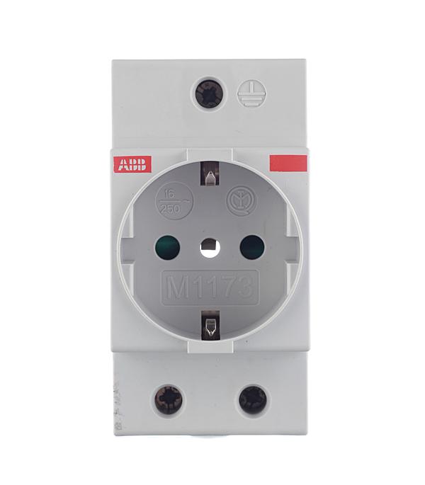 цены Розетка щитовая модульная ABB (2CSM110000R0701) 230 В 16 А тип AC 2Р+N