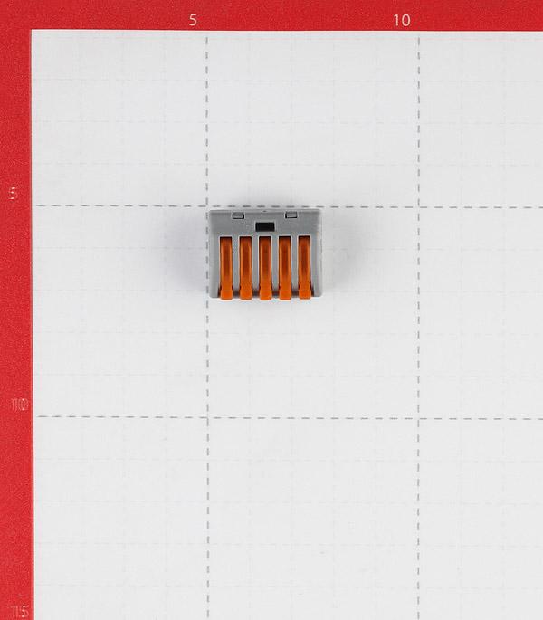 Клемма на 5 проводов Wago 222-415 0,08-2,5 кв. мм с рычажком (5 шт.) фото