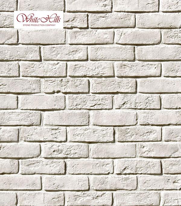 Искусственный камень White Hills Кельн Брик белый (96 шт=1.63 кв.м)