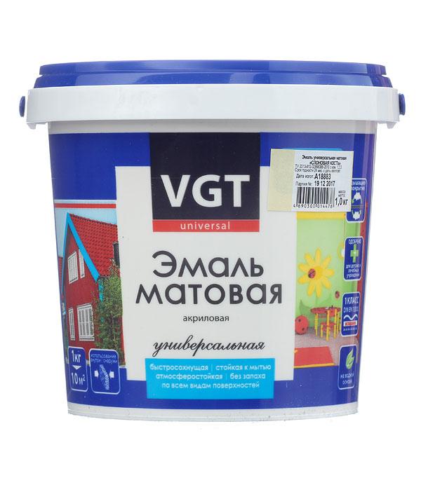 Эмаль акриловая матовая слоновая кость VGT 1 кг