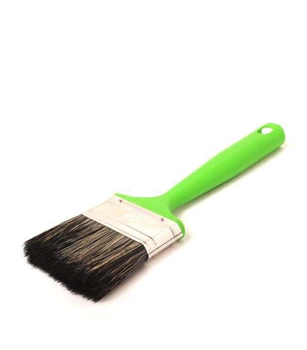 Кисть плоская Стандарт смешанная щетина пластиковая ручка 70 мм кисть плоская 60 мм натуральная щетина прорезиненная ручка hardy стандарт
