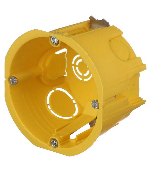 Подрозетник Schneider Electric для гипсокартона d68х46 мм 8 вводов желтый IP20 с металлическими лапками