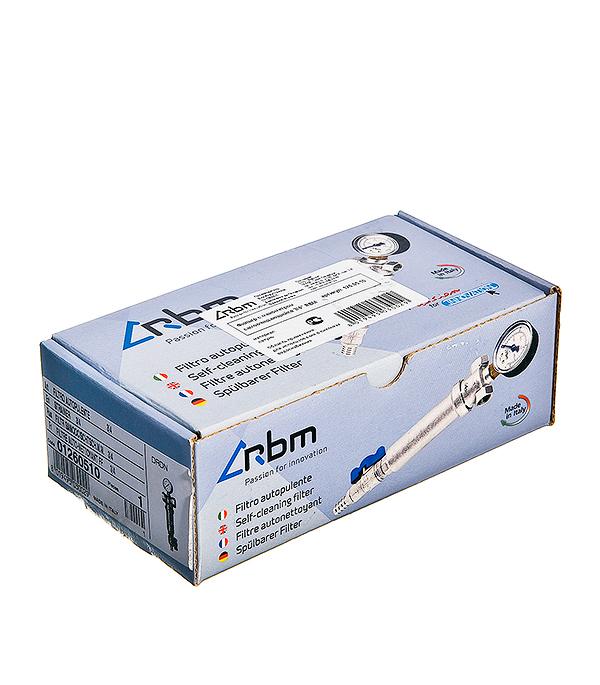 Фильтр с манометром RBM 3/4 внутр(г) х 3/4 внутр(г) 100 мкм фильтр регулятор fubag с манометром внутренняя резьба 0 8бар 1 4 190101