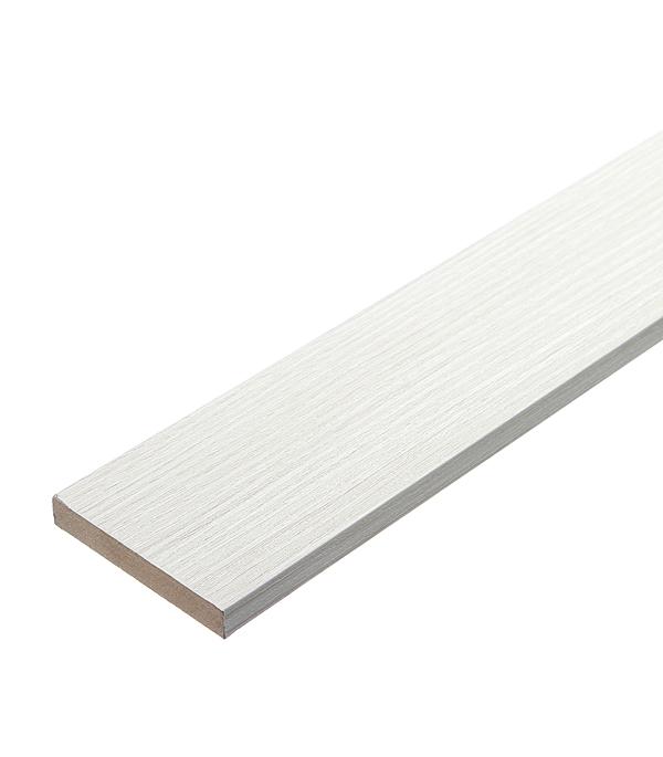Наличник МДФ белый дуб 70х10х2200 мм наличник дверной 2 060 68х33х2150 мм комплект 5шт