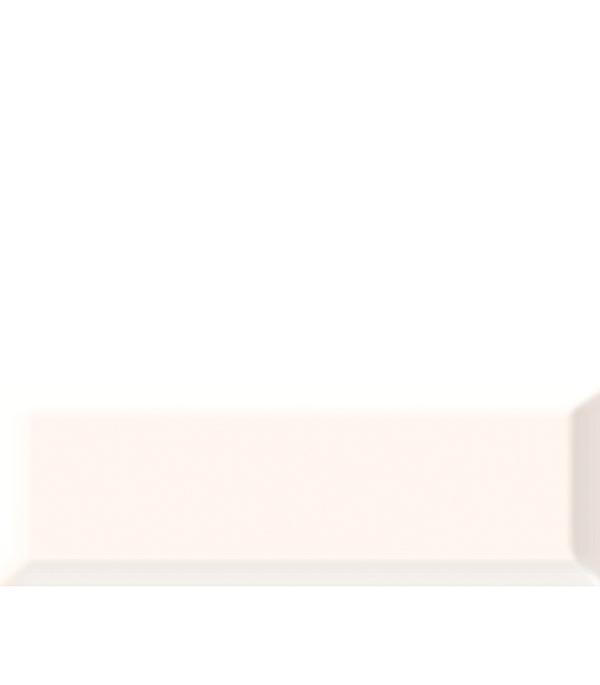 Плитка облицовочная Метро 100х300х8 мм белая (21 шт=0.63 кв.м) плитка декор 100х300х8 мм метро гжель 01 бело синий
