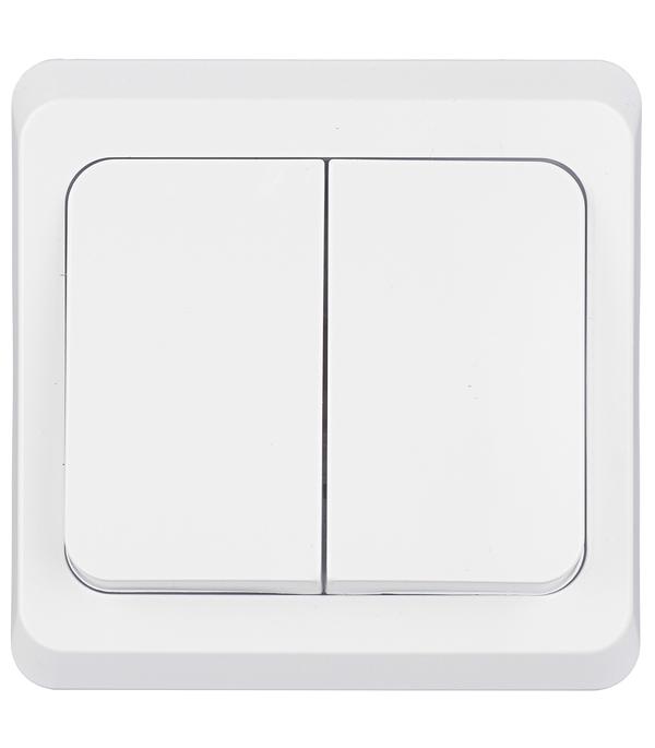 Купить Выключатель двухклавишный Этюд с/у белый, Schneider Electric, Белый