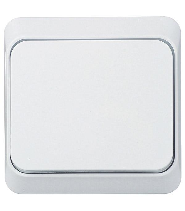 Выключатель одноклавишный Этюд о/у белый выключатель одноклавишный о у ip 44 schneiderelectricэтюдбелый
