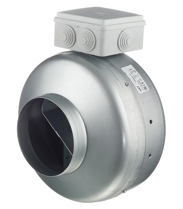 Вентилятор канальный центробежный d125 мм Era Tornado серебристый канальный вентилятор вентс тт про d125 мм