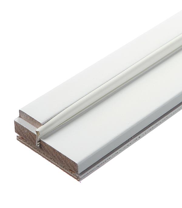Коробка дверная окрашенная в комплекте Принцип белая 70х2100х30 мм