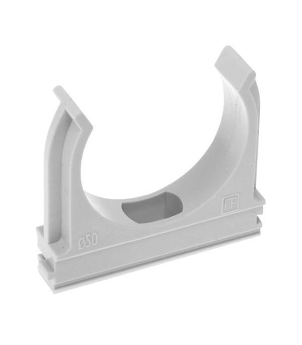 Крепеж-клипса для труб 40 мм серая (30 шт.) Промрукав цены