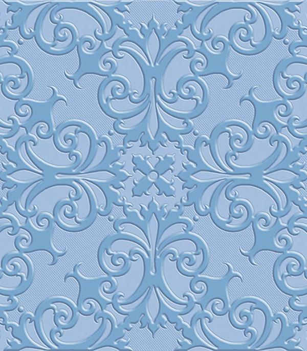 Плитка напольная Axima Прованс Люкс синяя 400x400x9 мм (10 шт.=1,6 кв.м)