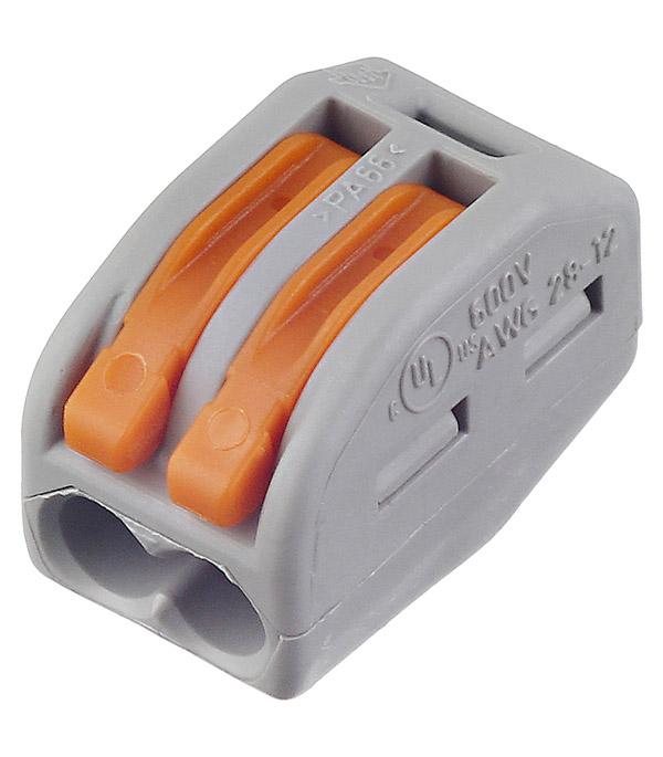 цены Зажим клемма Wago 222-412 на 2 провода с рычажком 0,08-2,5 мм кв 5 шт
