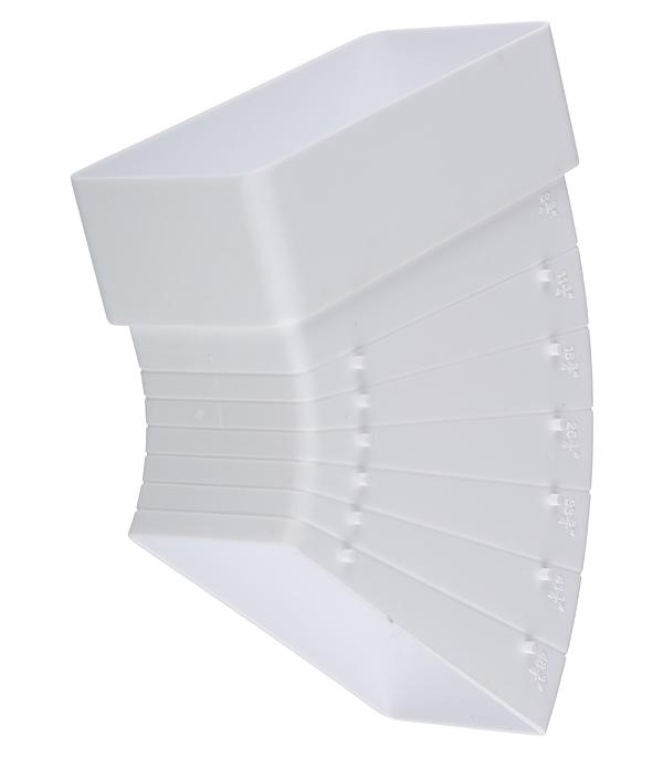 Колено для плоских воздуховодов горизонтальное пластиковое 60х120 мм разноугловое врезка оцинкованная для круглых стальных воздуховодов d125х100 мм