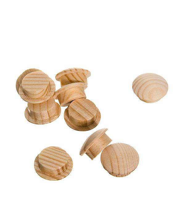 Заглушка деревянная круглая сосна диаметр 10 мм (10 шт)
