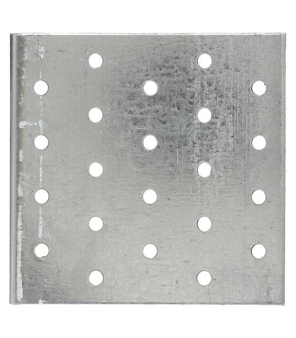 Уголок соединительный оцинкованный 100х100х100х2 мм фото
