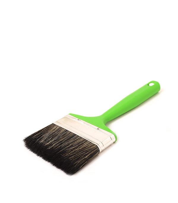 Кисть плоская Стандарт смешанная щетина пластиковая ручка 100 мм кисть плоская 38 мм смешанная щетина деревянная ручка hardy стандарт