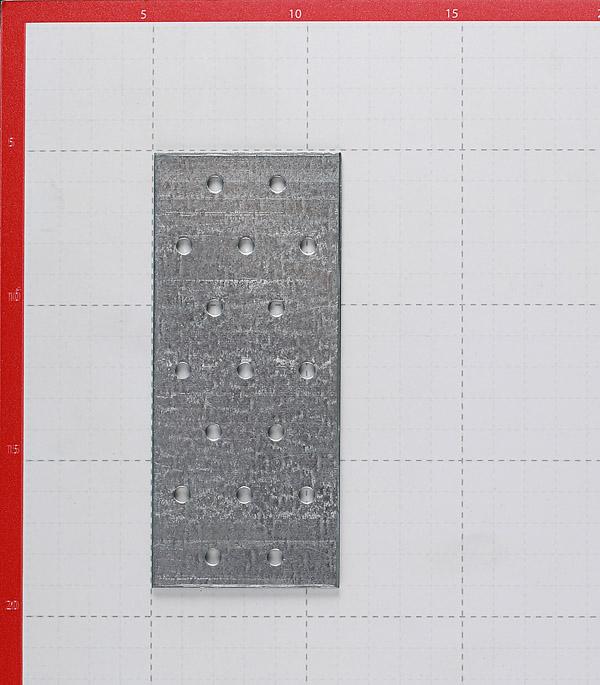Пластина соединительная оцинкованная 140х60х2.0 мм фото
