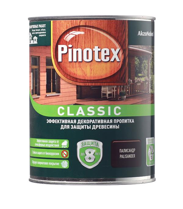Декоративно-защитная пропитка для древесины Pinotex Classic палисандр 1 л